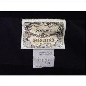 VTG Jessica's Gunnies Gunne Sax Black Velvet Skirt